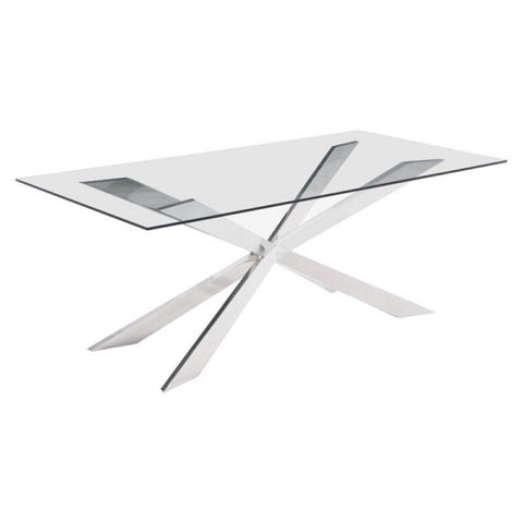RIZE DINING TABLE CHROME