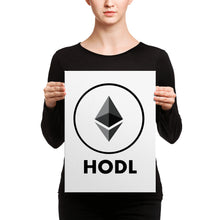 "Ethereum ""HODL"" - Canvas"