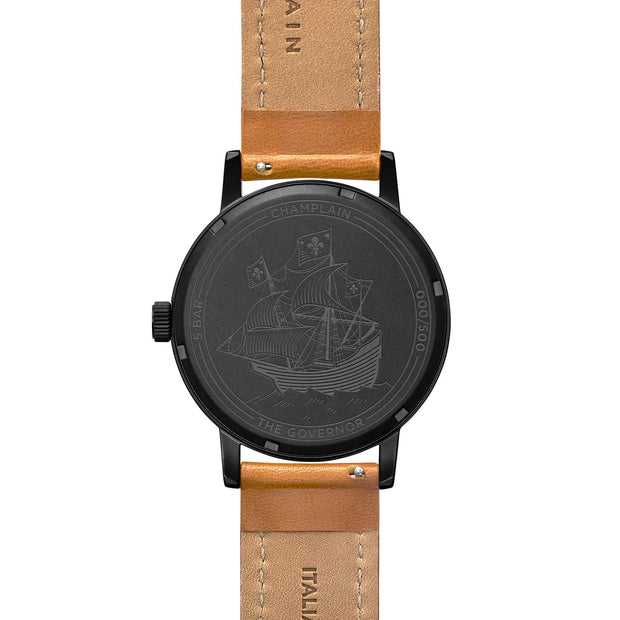 Black - Tan Governor Watch by Champlain
