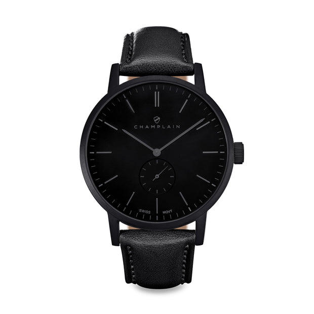 Triple Black Governor Watch by Champlain