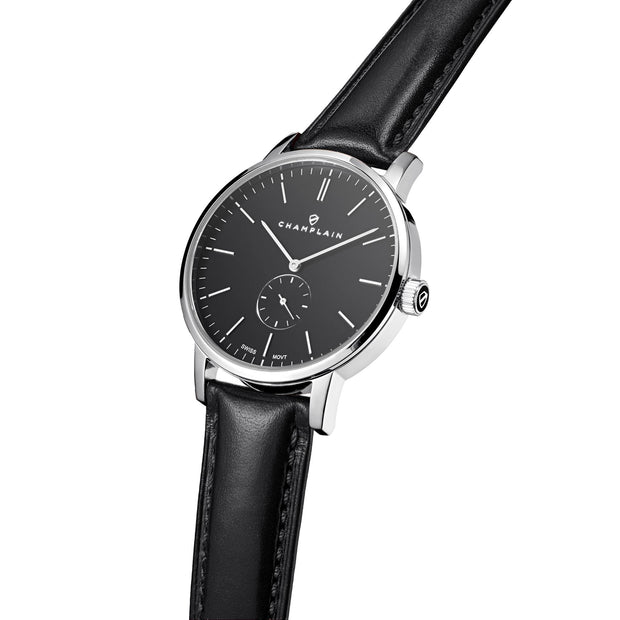 Silver/Black - Black Governor Watch by Champlain