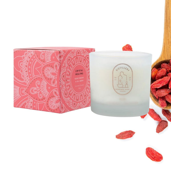 distillery fragrance house - blood orange and goji berry soy candle