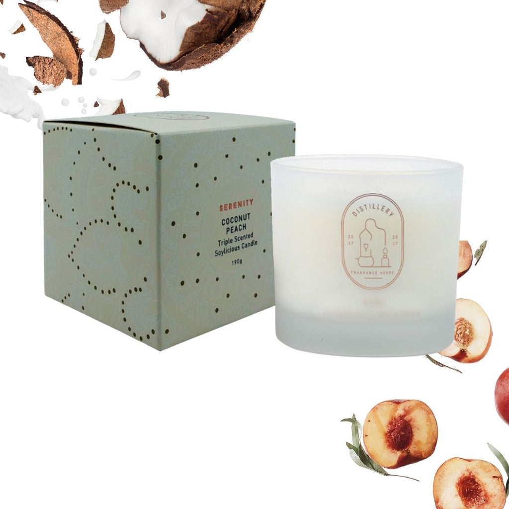 coconut peach soy candle