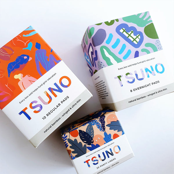Tsuno Natural Bamboo Pads - Box for Two