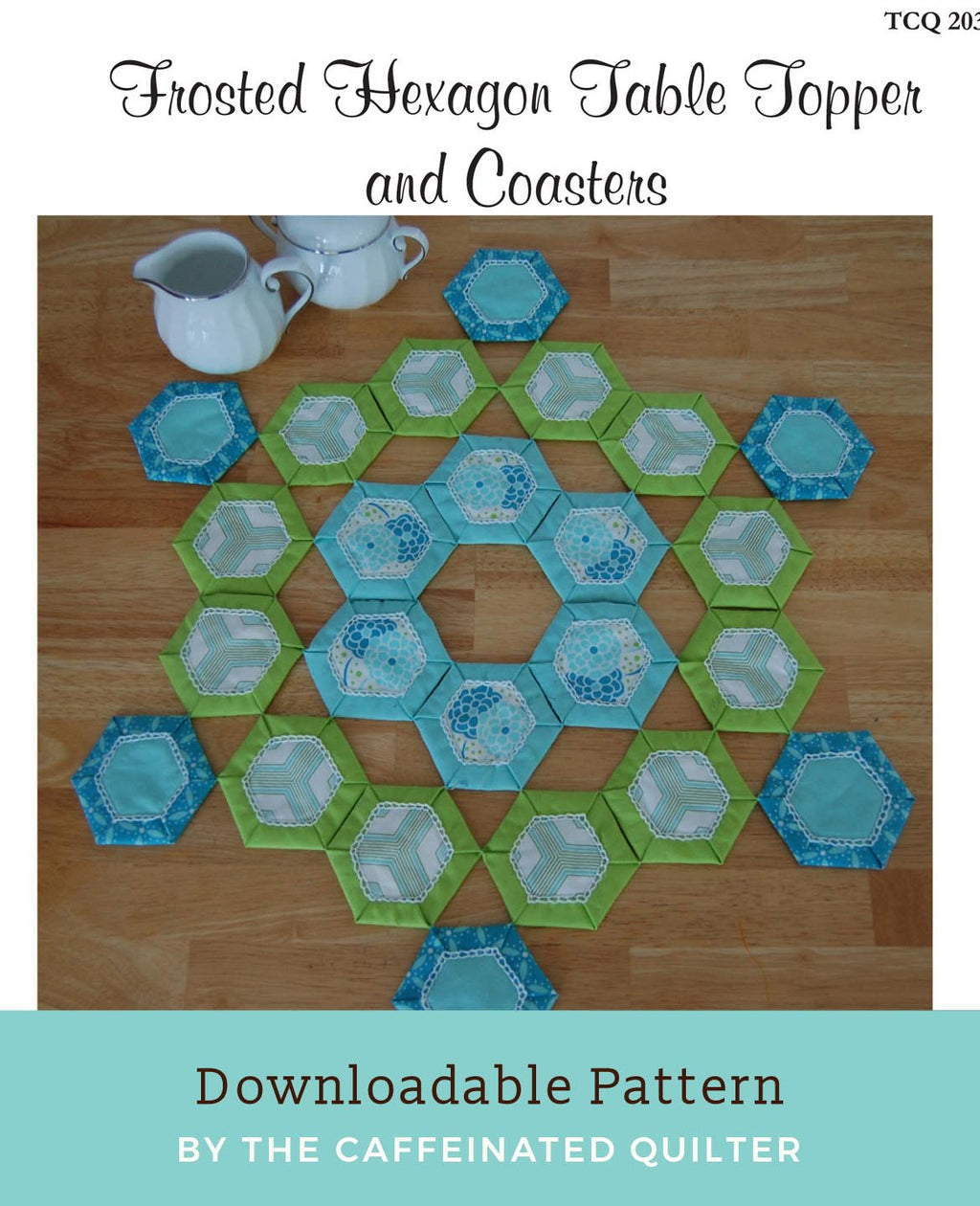 Frosted Hexagon Table Topper and Coasters Download
