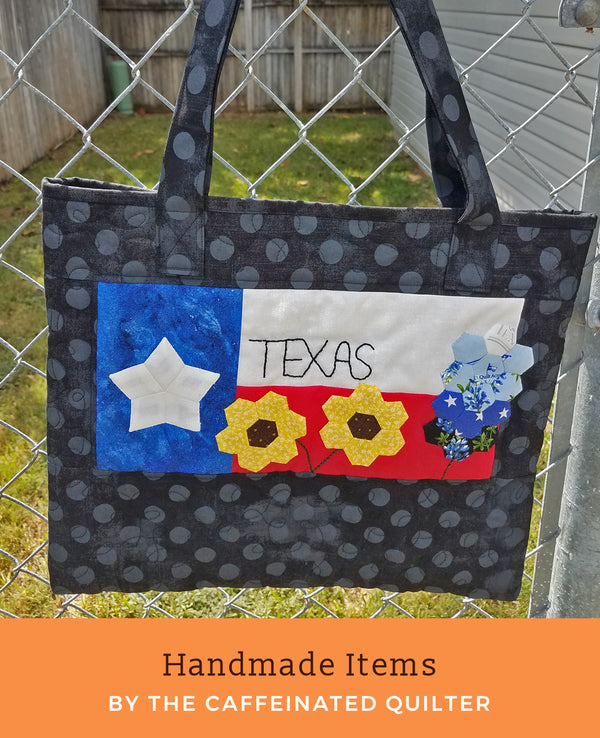 Black Texas Tote Bag
