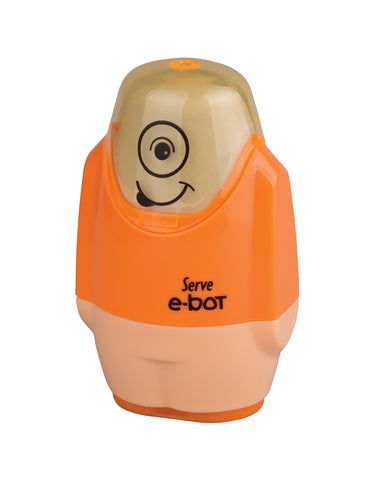 Serve E-bot Eraser & Sharpener