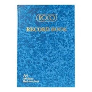 Record Book A4 Multiple Sizes