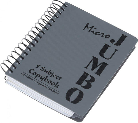 JUMBO Notebook Multiple Subjects 1-6