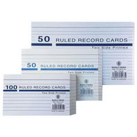 Bassile 50 RULED Record Cards 10.2 X 15.2 CM