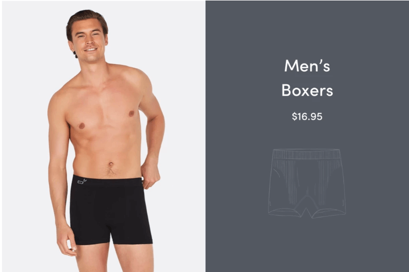 Man in black bamboo boxer briefs