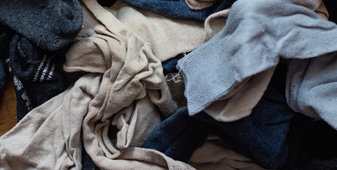 A pile of worn out clothes