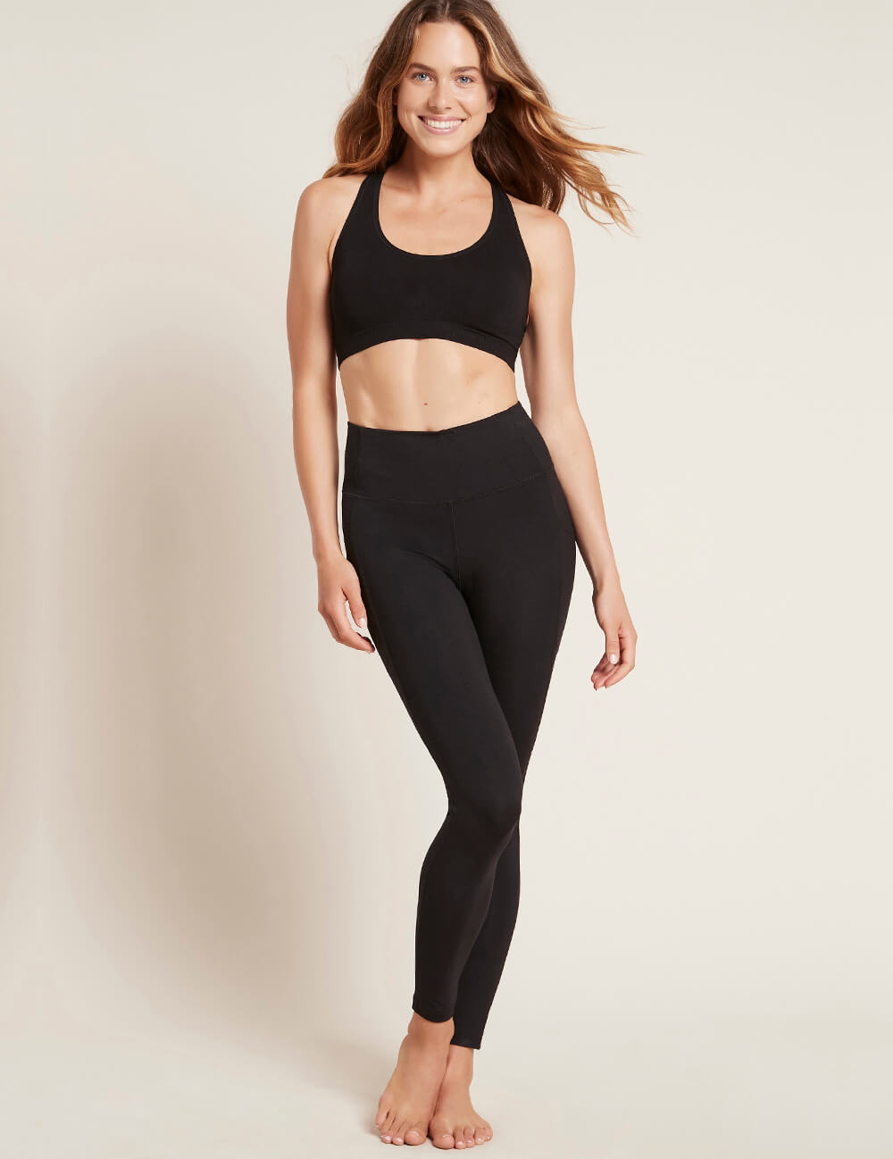 Active Blended High-Waisted Full Leggings with Pocket