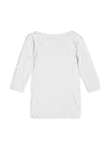 Boody Bamboo Womens Scoop Top in White Flat Lay