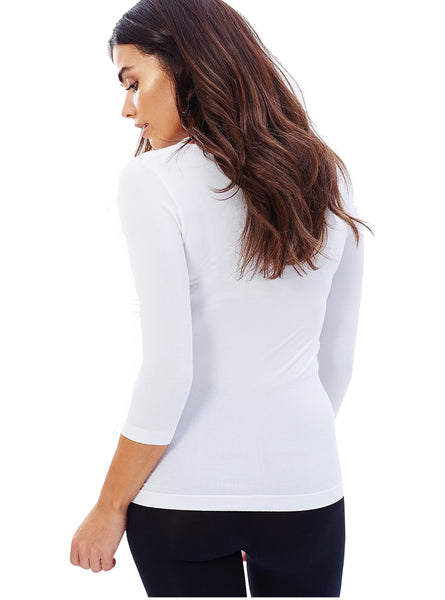 Boody Bamboo Womens Scoop Top in White from Back
