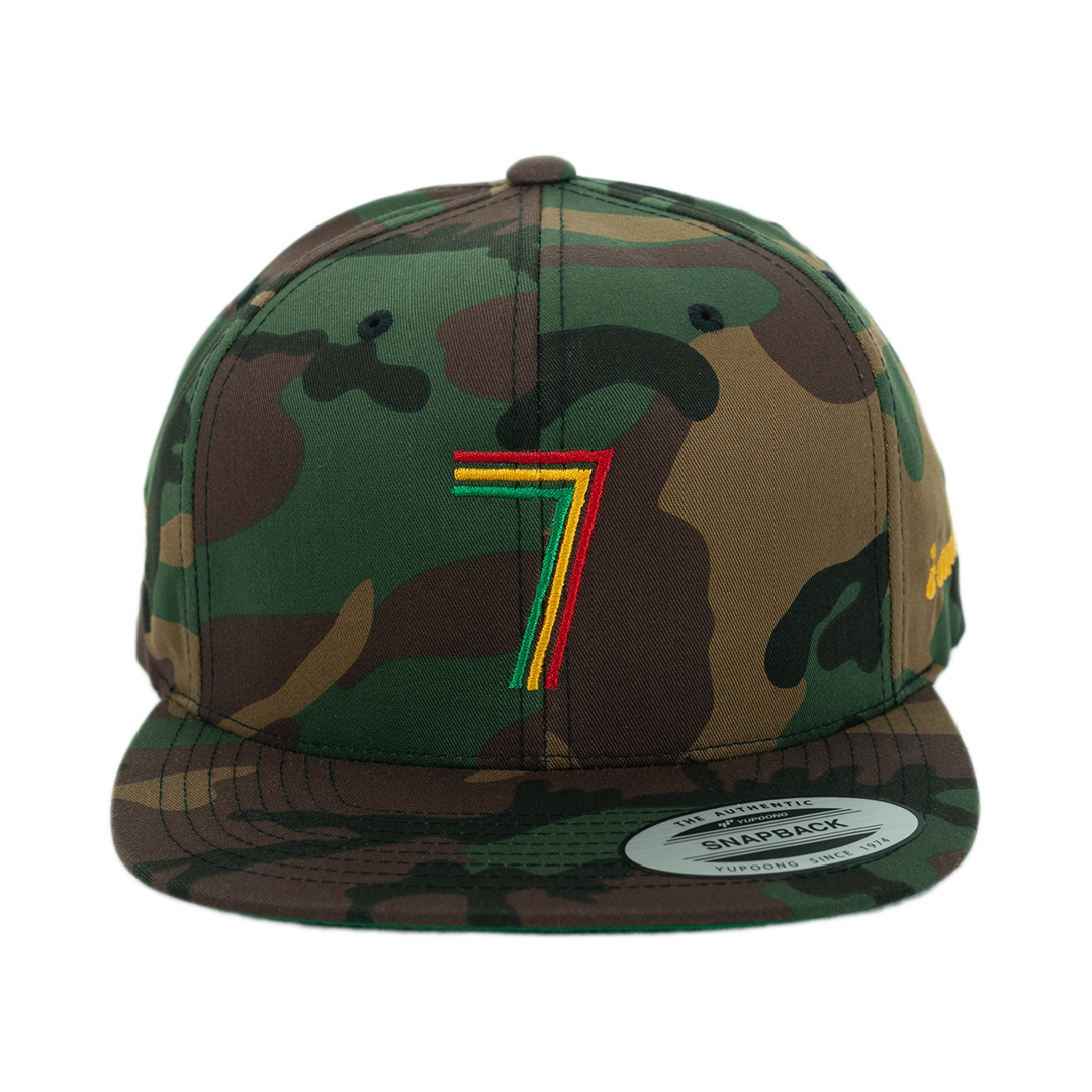 Rasta Fiya 7 i and i Embroidered Classic Snapback Hat