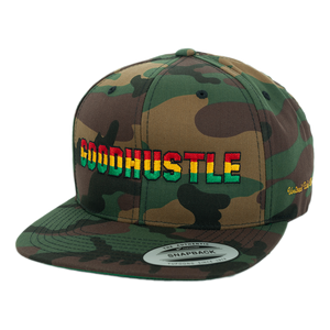 GOODHUSTLE Rasta Fiya Embroidered Classic Snapback Hat
