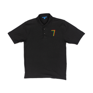 Rasta Fiya 7 Embroidered Men's Premium Polo