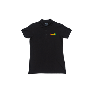 i and i Rasta Fiya Embroidered Women's Premium Polo Shirt