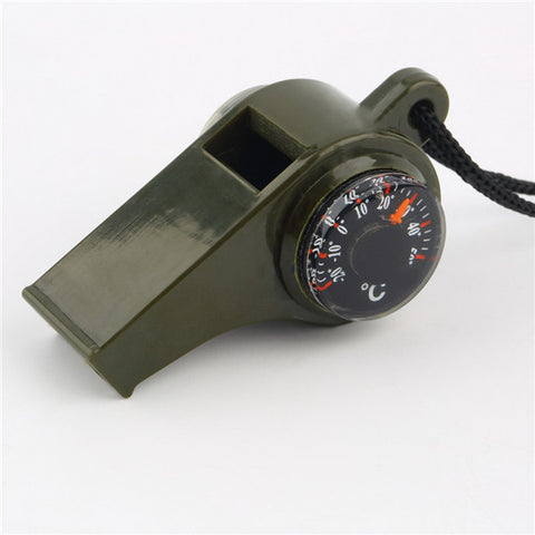 Whistle, Compass, Thermometer 3 in1