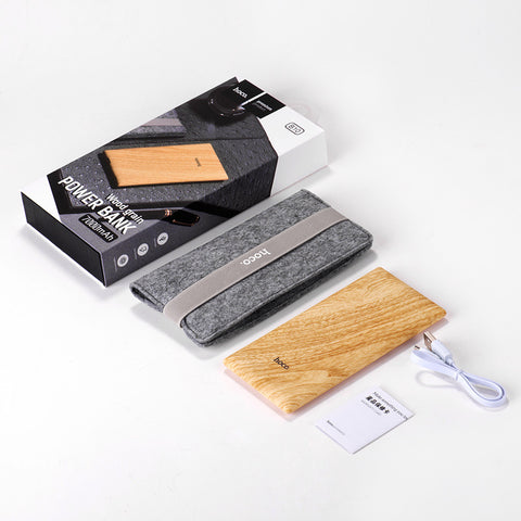 Wood Texture Portable Power Bank