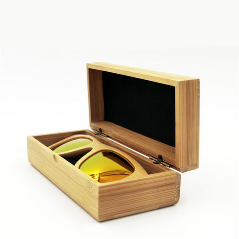 Bamboo Wood Sunglasses Case (glasses not included)