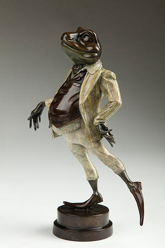 Mister Toad - Large Bronze Sculpture by Rachel Talbot