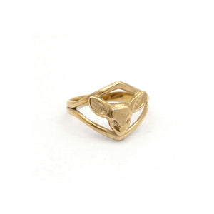 Deer Ring | Bronze