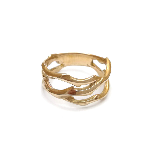Wild Thorn Ring | Bronze