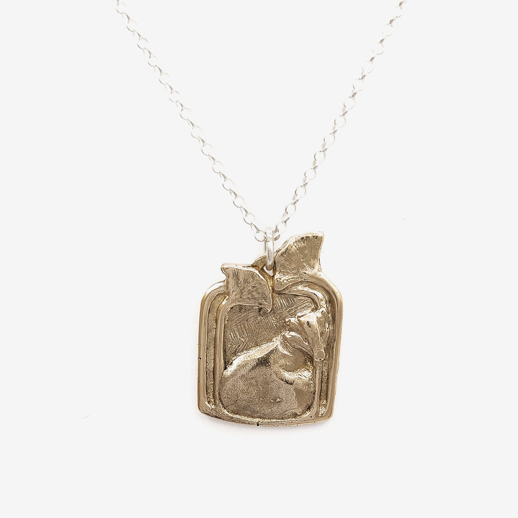 Badger pendant necklace | Bronze