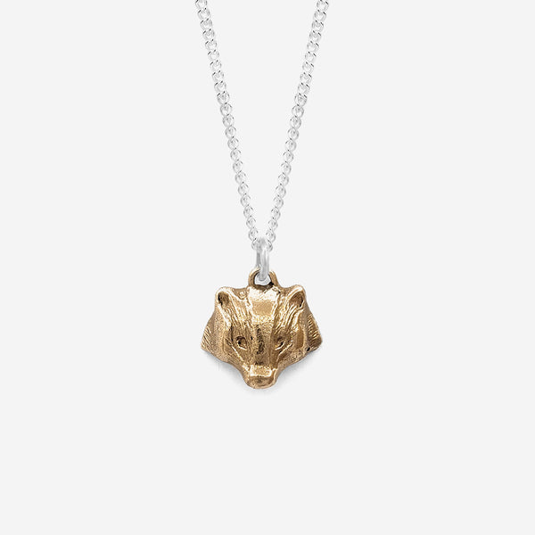 Badger charm necklace | Bronze