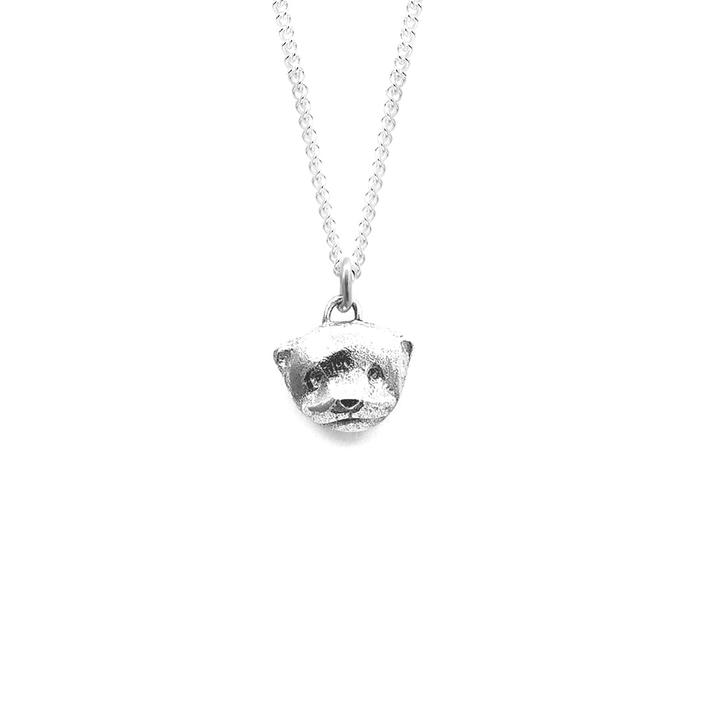 Otter charm necklace | Silver