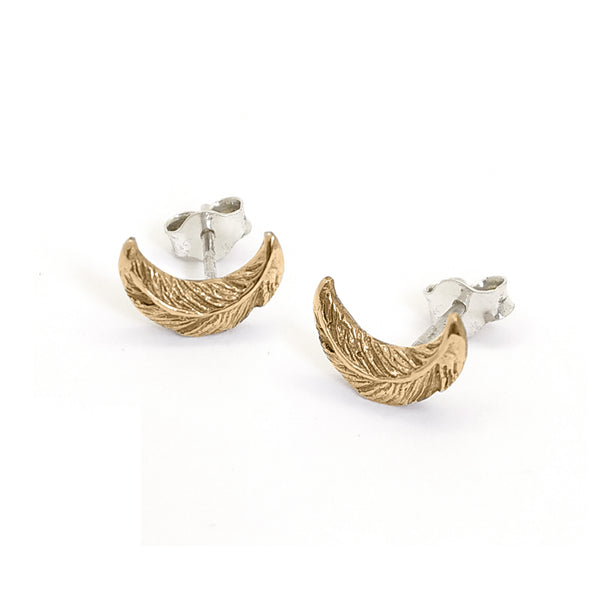 Night Owl Stud Earrings | Bronze