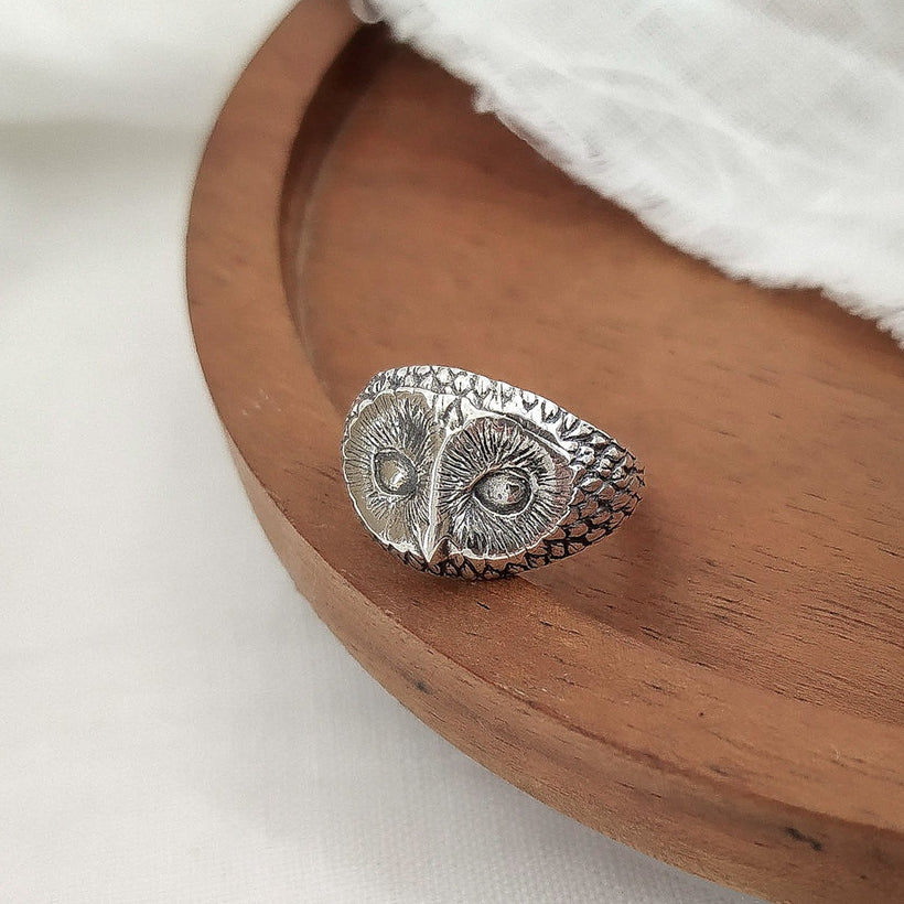 Owl ring - ready to ship