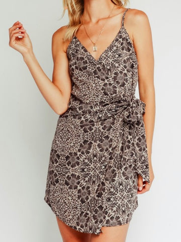 Kelsey Tie Side Wrap Dress