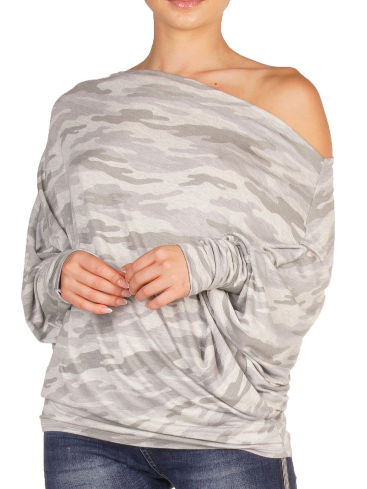 Katie Camo Off Shoulder