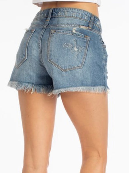 Hazel Distressed Denim Shorts
