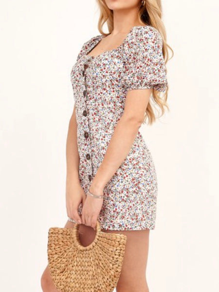 Sandi Buttoned Detail Dress