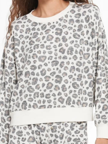 Z Supply Elle Brushed Leopard Pullover