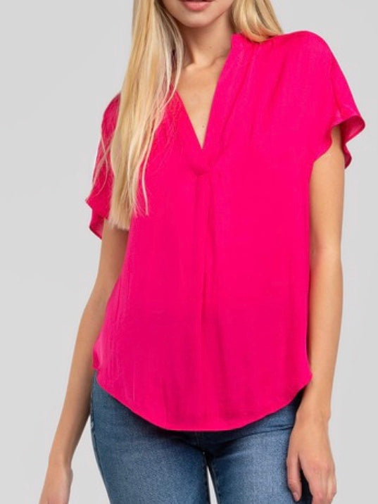 Joelle Sleeveless Silky Blouse
