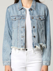 Harper Frayed Hem Denim Jacket