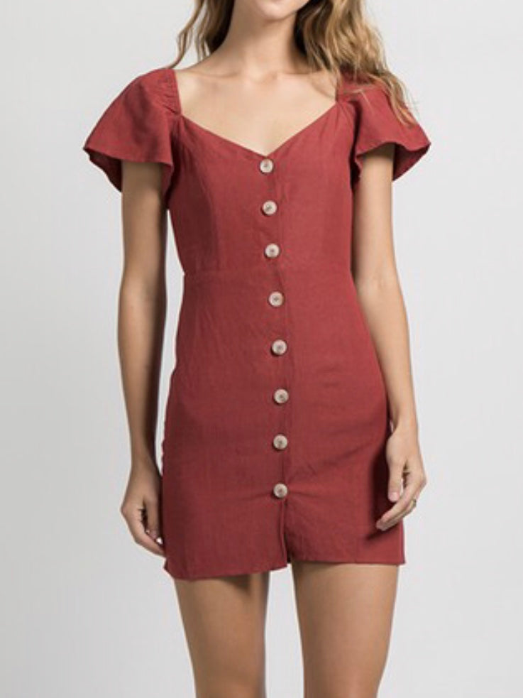 Jillian Buttoned Down Dress