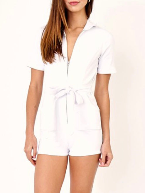Riley Denim Romper