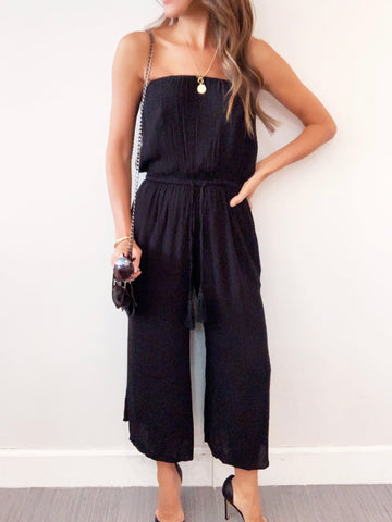Strappless Cullote  Jumpsuit