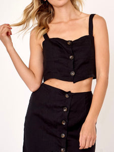 Cara Button Detail Top