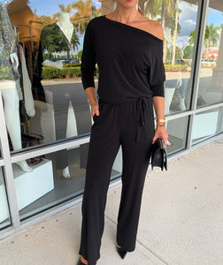 Veronica M Off Shoulder Wide Leg Jumpsuit