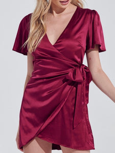 Jada Faux Wrap Dress