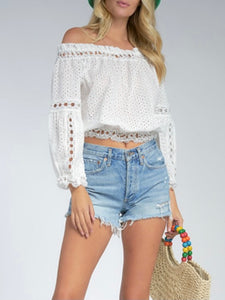 Kara Crochet Off Shoulder Top