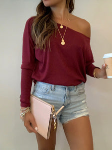 Onzie Off Shoulder Rib Top