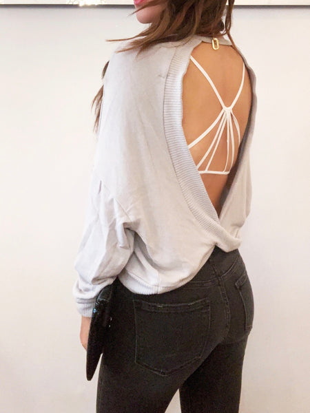 Project Social Cross Back Sweater